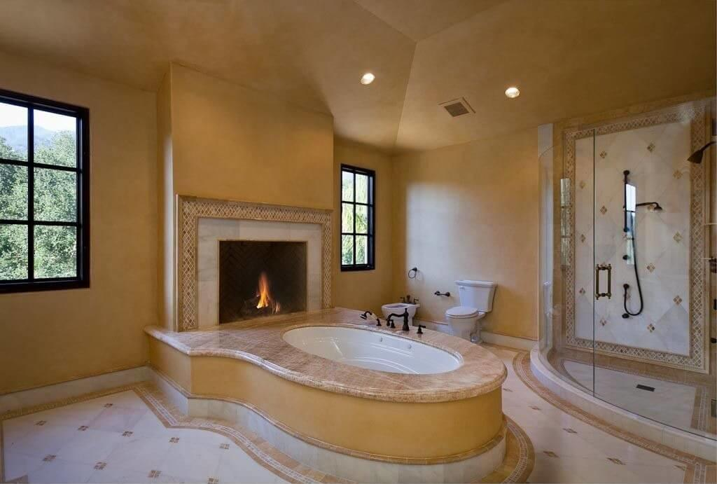 Master Bathrooms Fireplaces