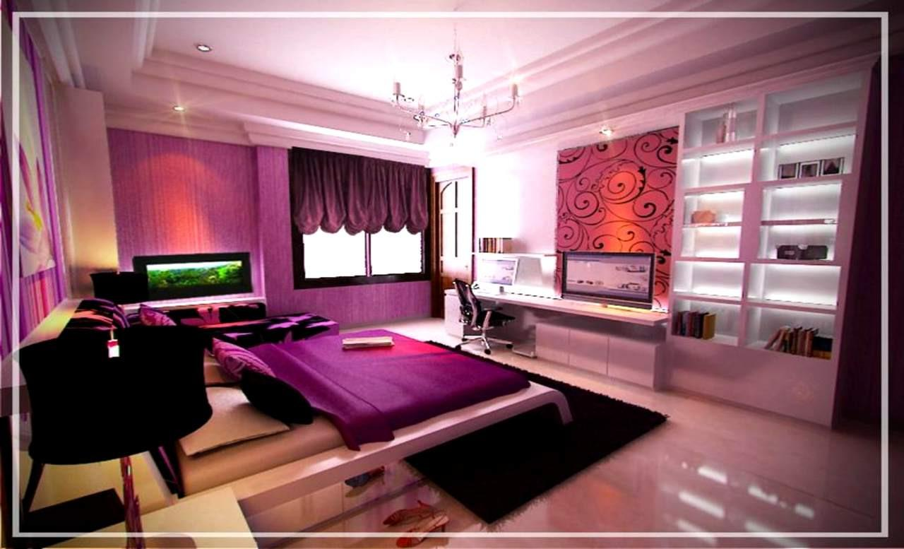 Master Room Purple Interior Decor Home Combo
