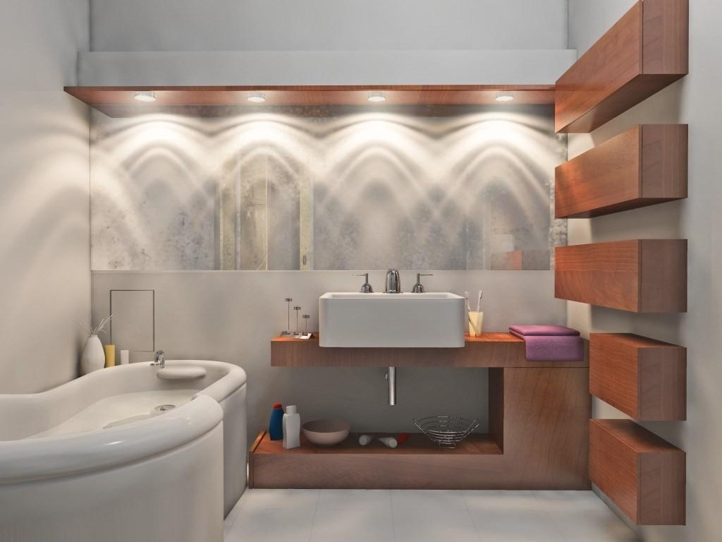 Masterly Silver Stain Industrial Bathroom Light