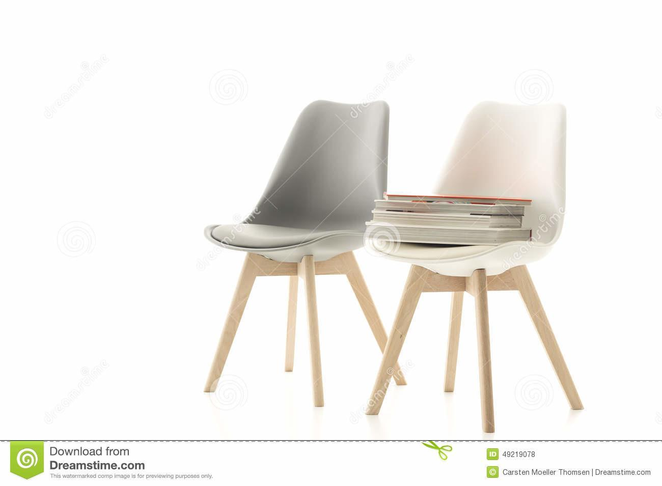 Matching Grey White Modern Chair Stock
