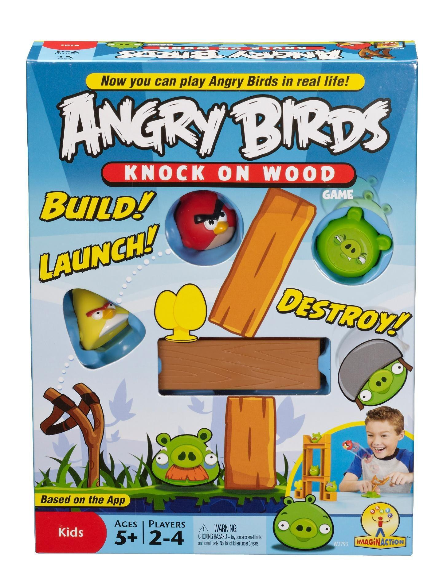 Mattel Angry Birds Knock Wood Game Toys Games