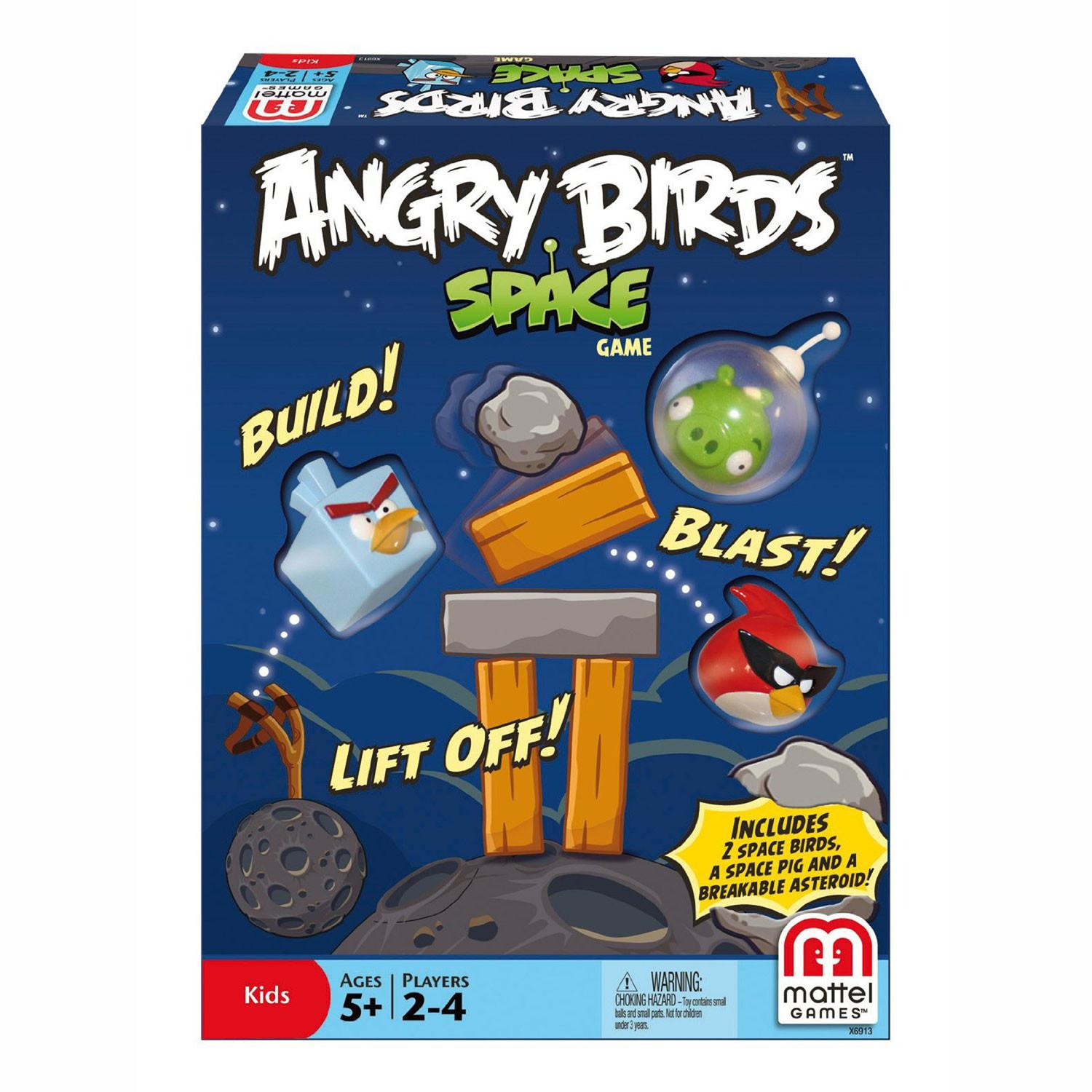 Mattel Angry Birds Outer Space Family Fun Hands Card