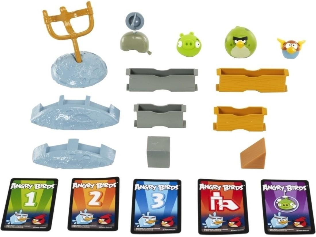 Mattel Games Angry Birds Space Game Planet Block Version