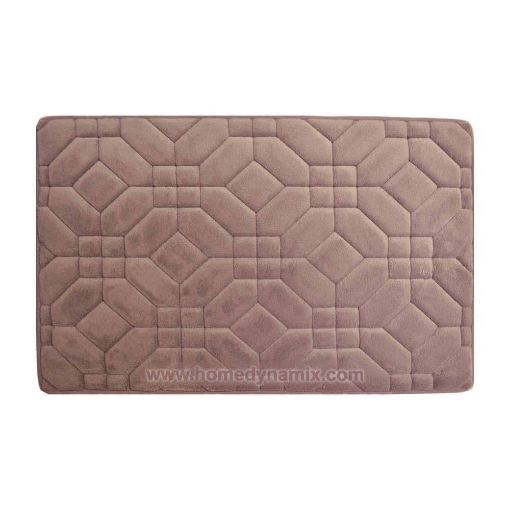 Mauve Memory Foam Bathroom Mat Rug Day Spa Tiles Design