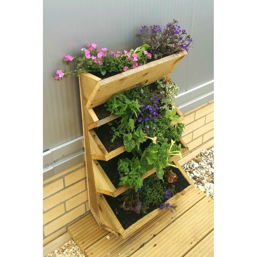 Maxwell Diy Wall Mounted Wooden Herb Planter