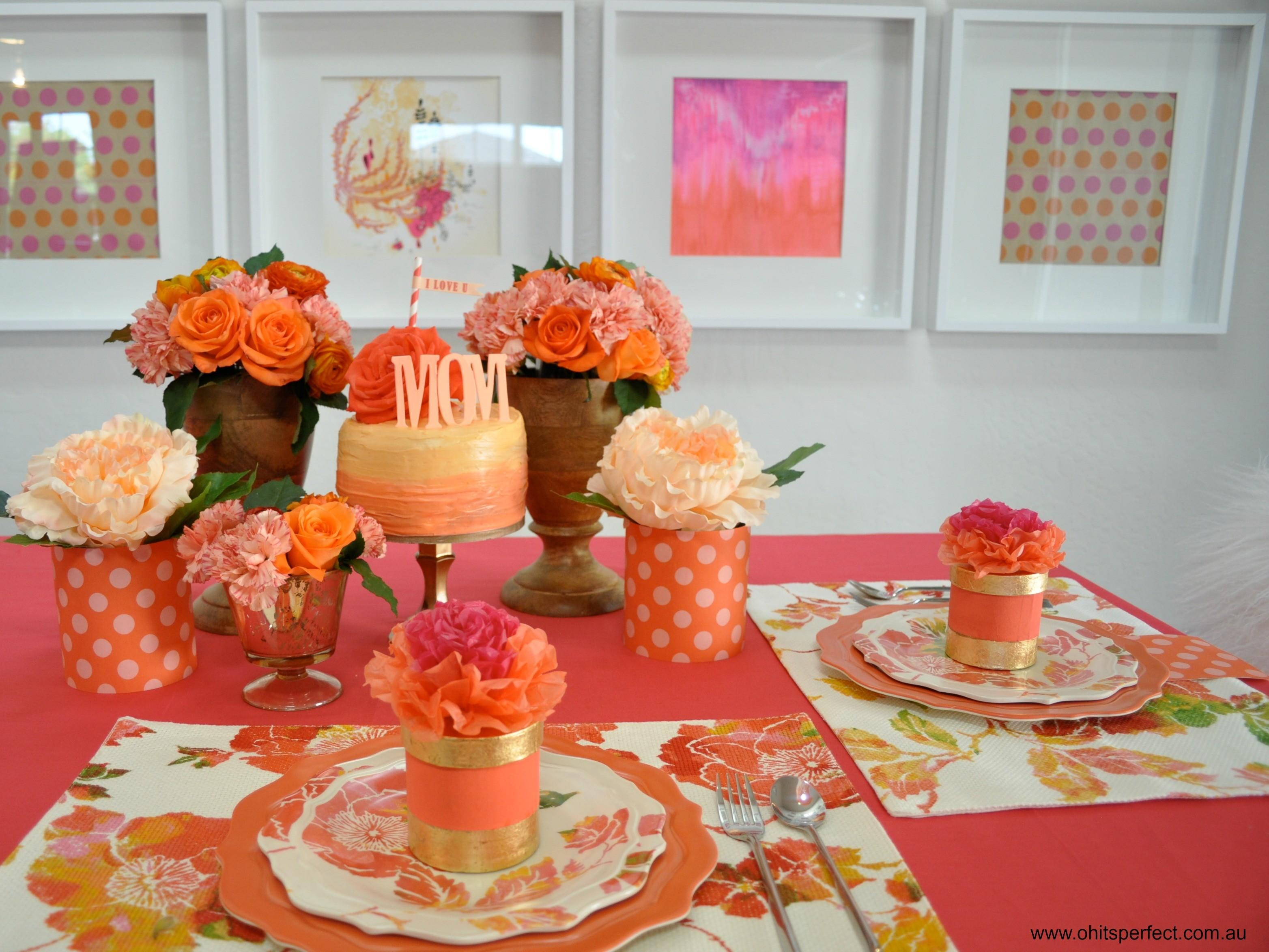 May Flowers Mother Day Tablescape