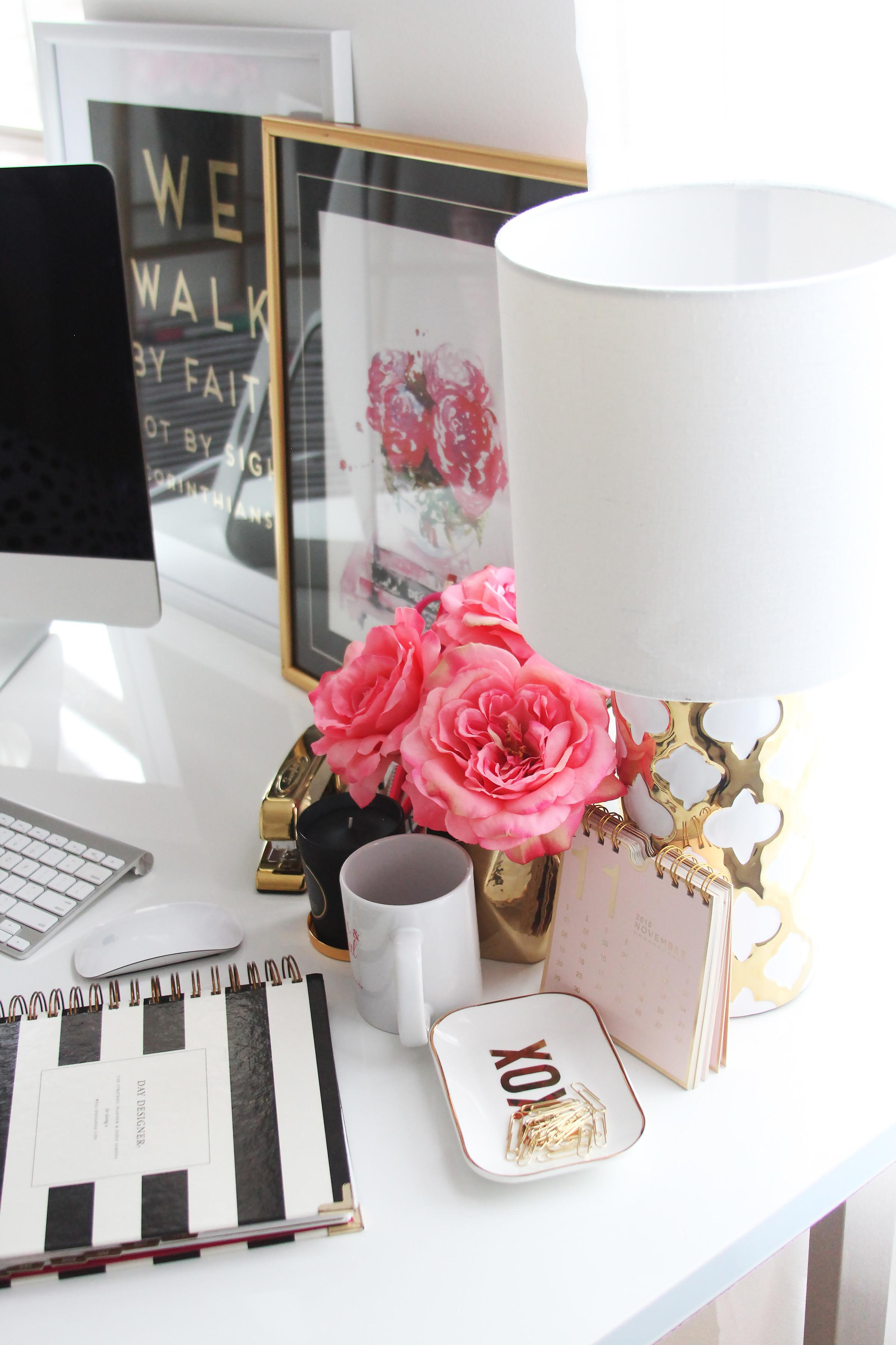 Meagan Ward Girly Chic Home Office Tour Sayeh