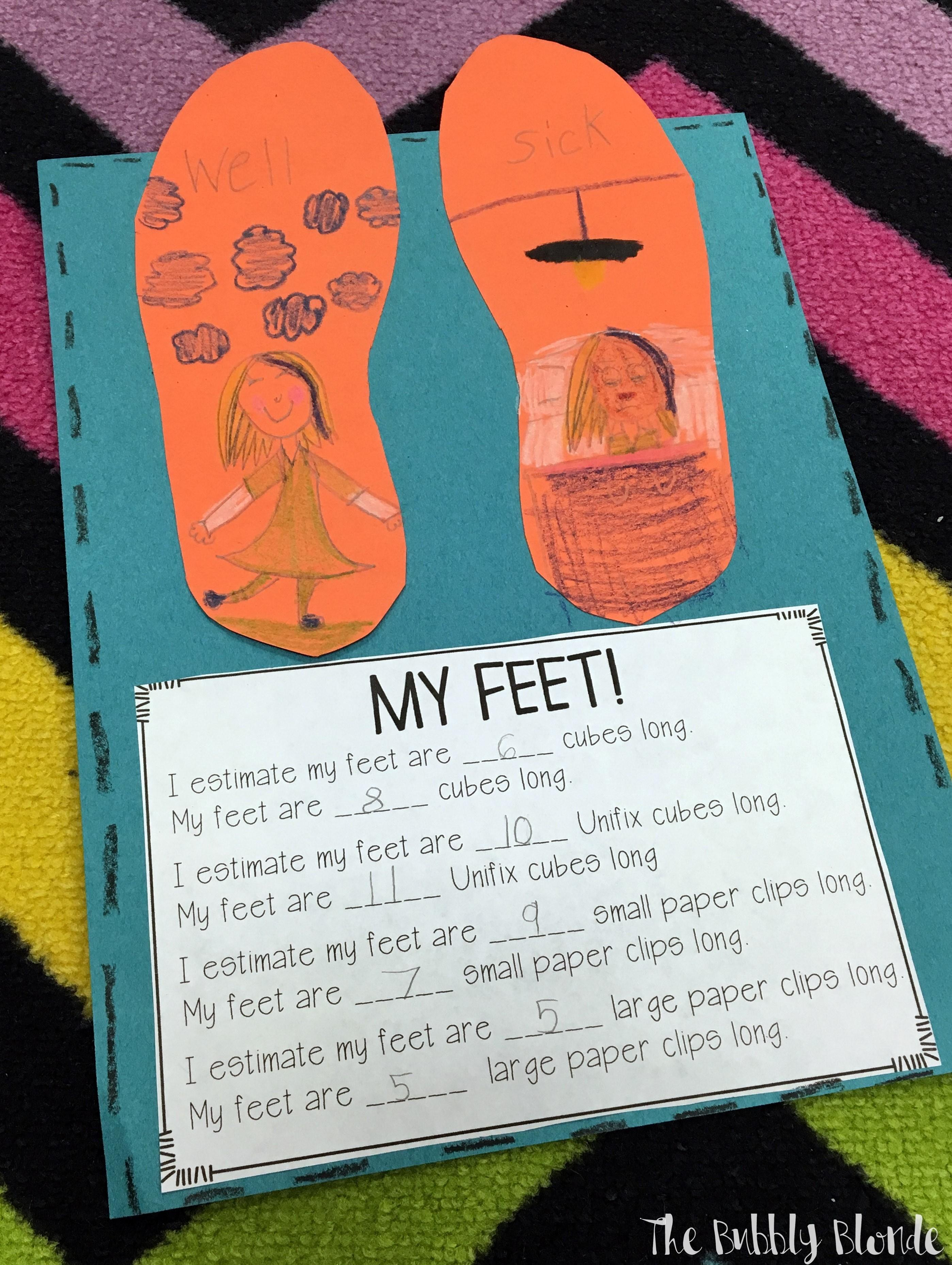 Measuring Foot Book Bubbly Blonde Teacher