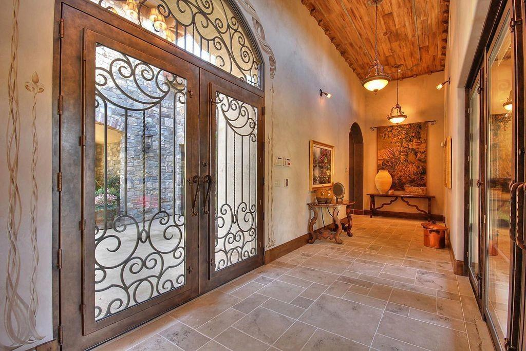 Mediterranean Entryway French Doors Custom Double