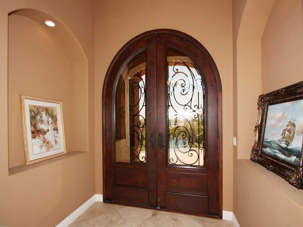 Mediterranean Front Door Glass Panel Dan