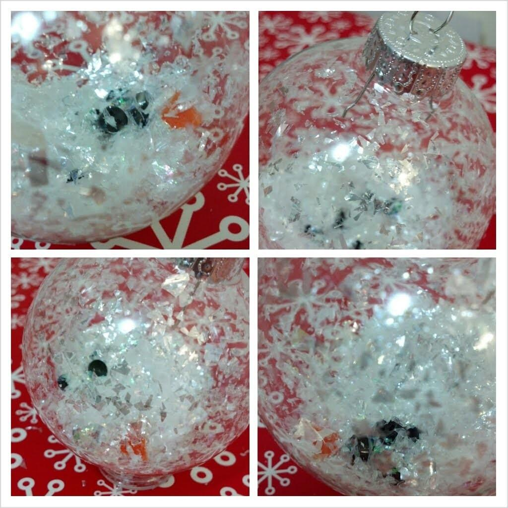 Melted Snowman Ornament Christmas Diy