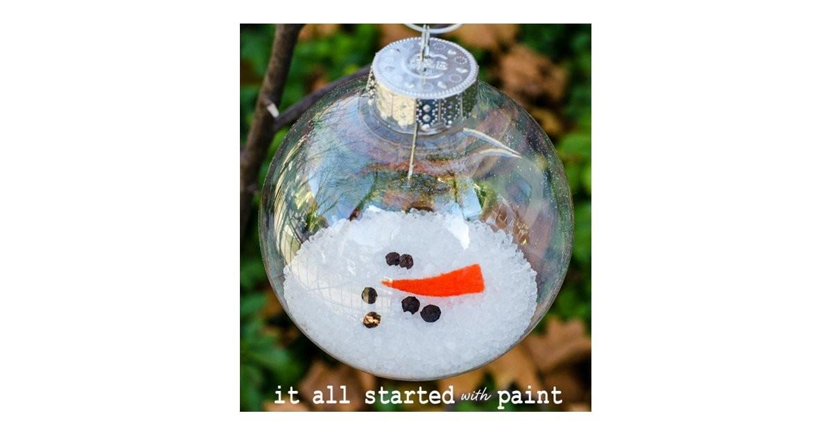 Melted Snowman Ornament Diy Christmas Ornaments