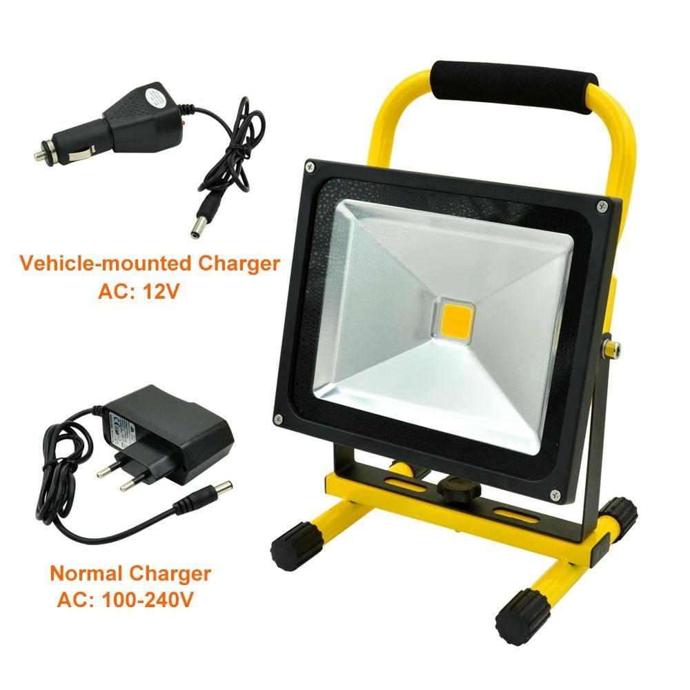 Mengsled Mengs 30w Portable Led Rechargeable Flood