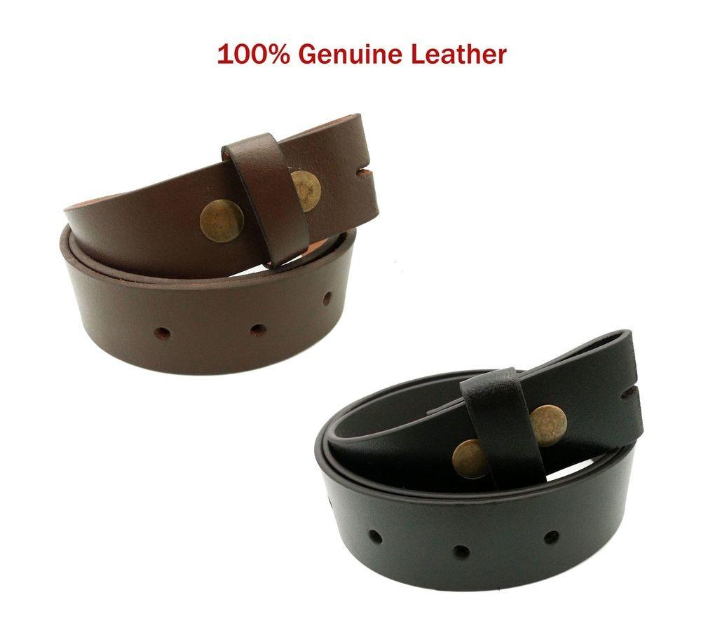 Mens Ladies Real Leather Snap Strap High Quality