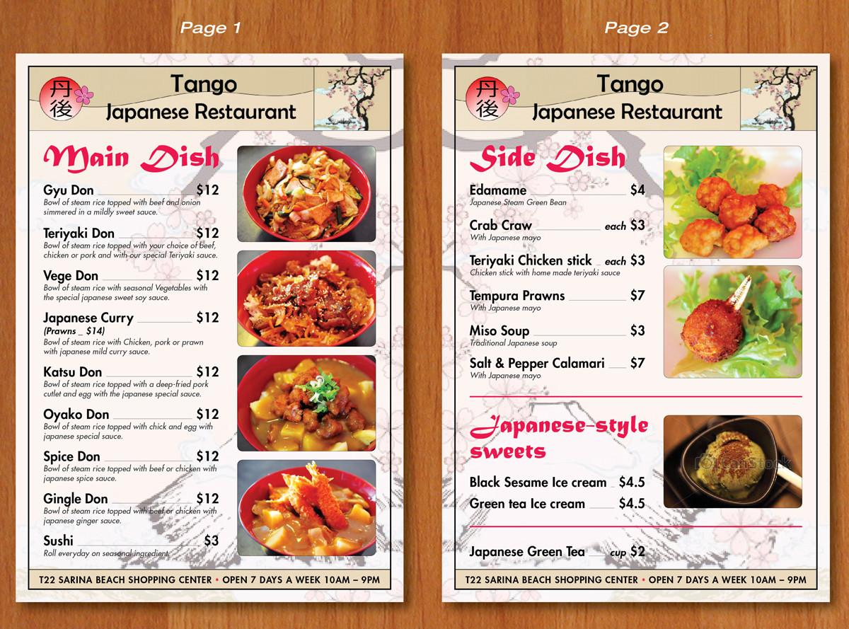 Menu Design Albert Hui Ekanite