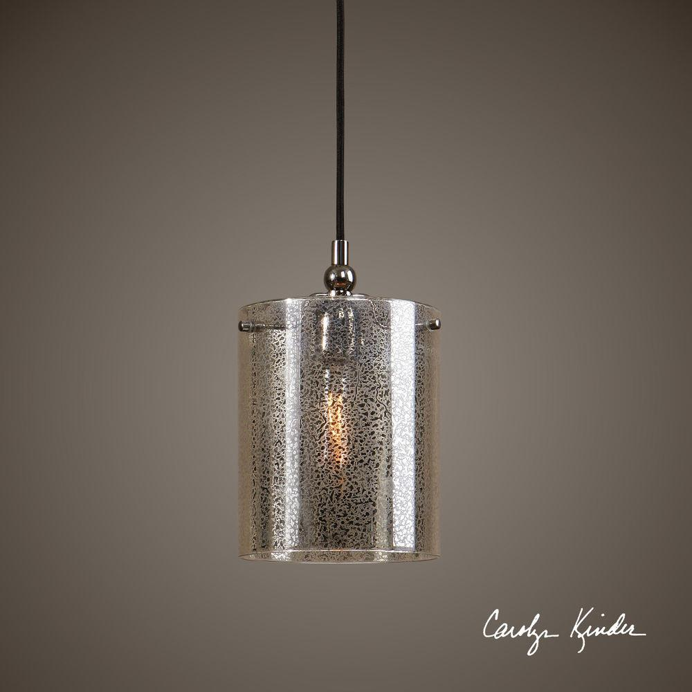Mercury Glass Plated Nickel Hanging Pendant Ceiling Light