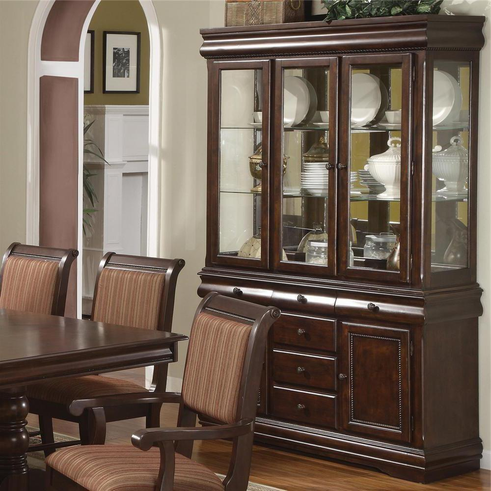 Merlot Wooden China Cabinet Buffet Hutch Formal Dining