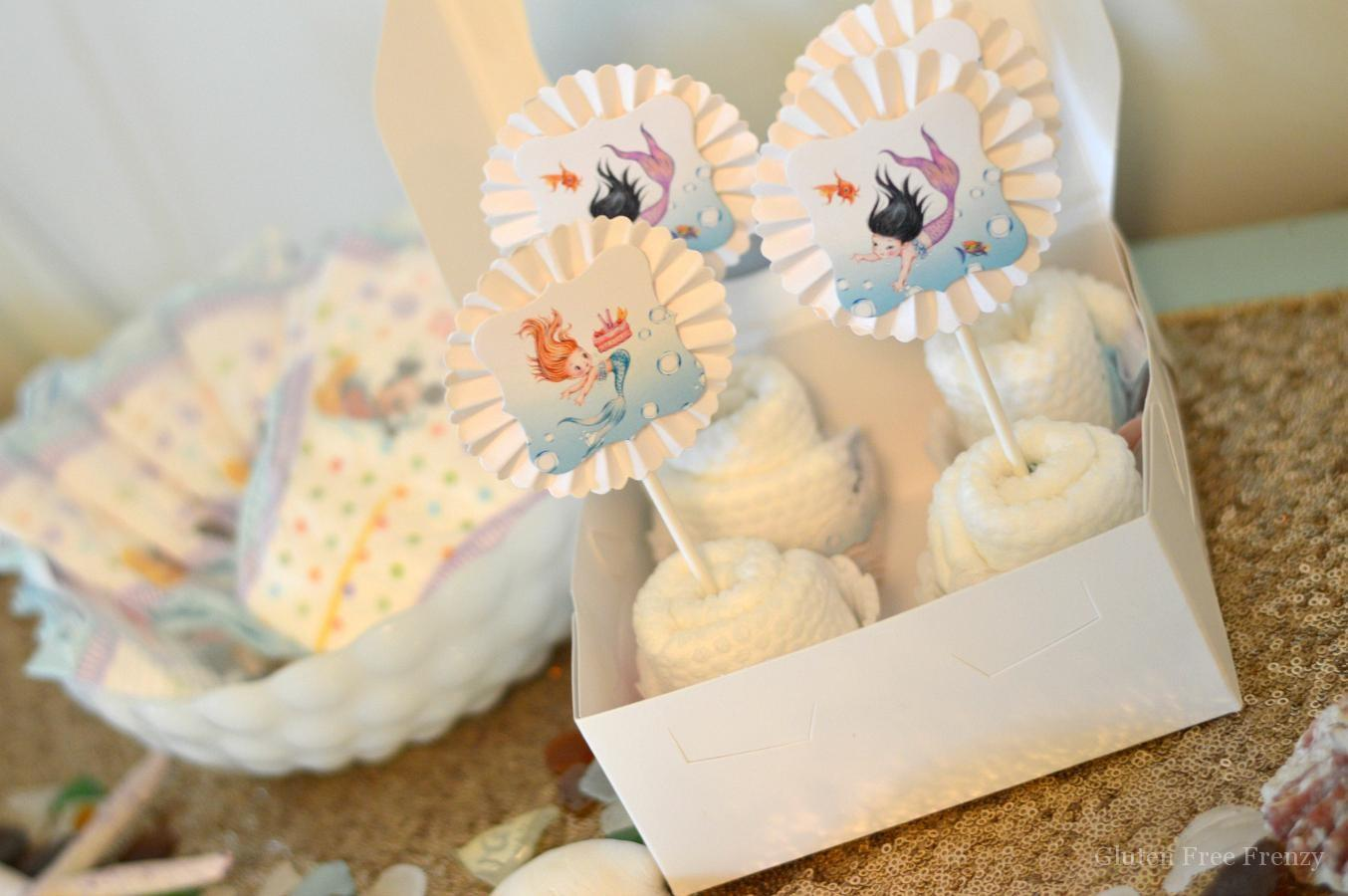 Mermaid Baby Shower Diy Diaper Cupcakes Huggies