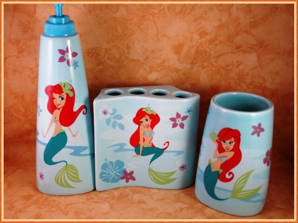 Mermaid Bathroom Set Decor Office Bedroom Little Mer