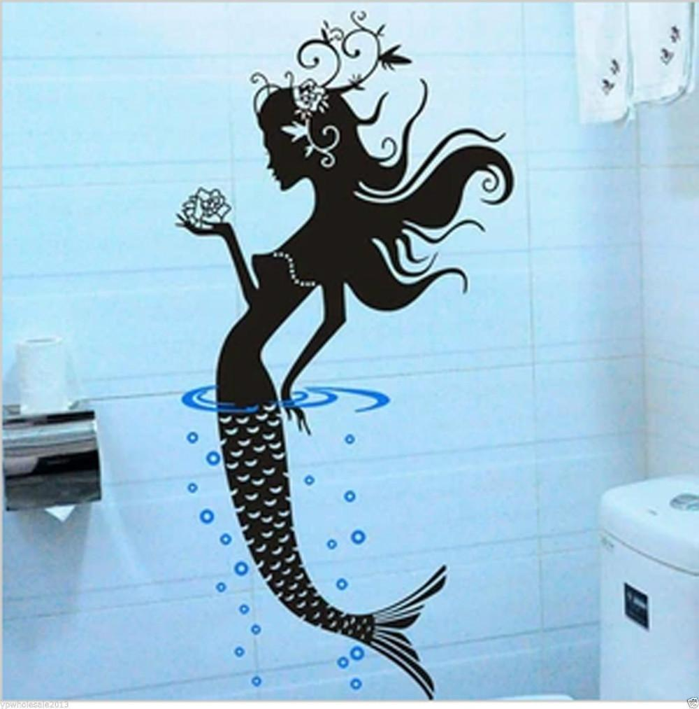 Mermaid Wall Sticker Art Decals Bathroom Baby Room