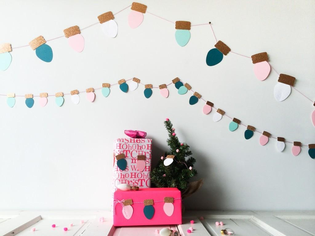 Merry Bright Christmas Light Garland Party