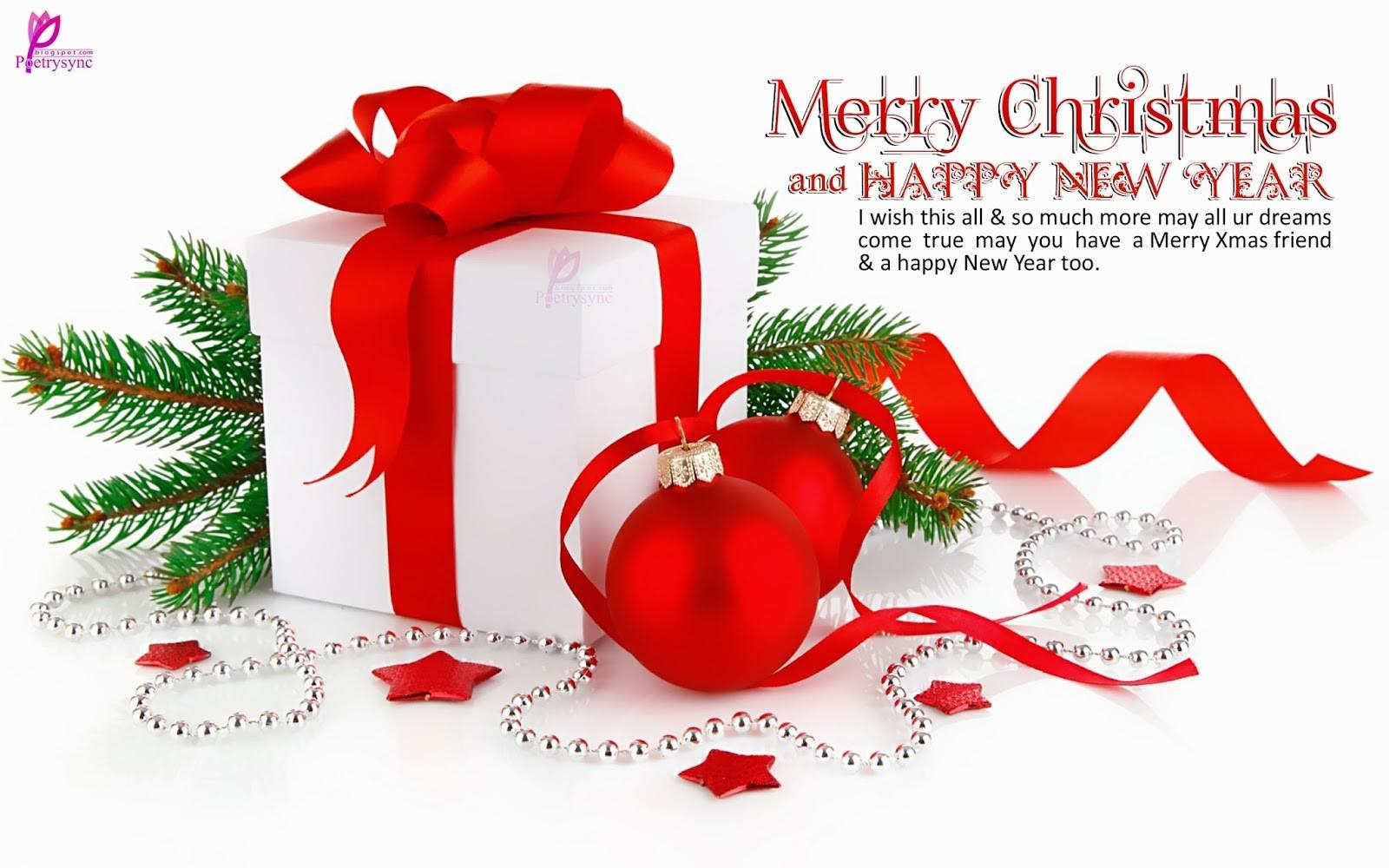 Merry Christmas Christian Friends Happy New Year