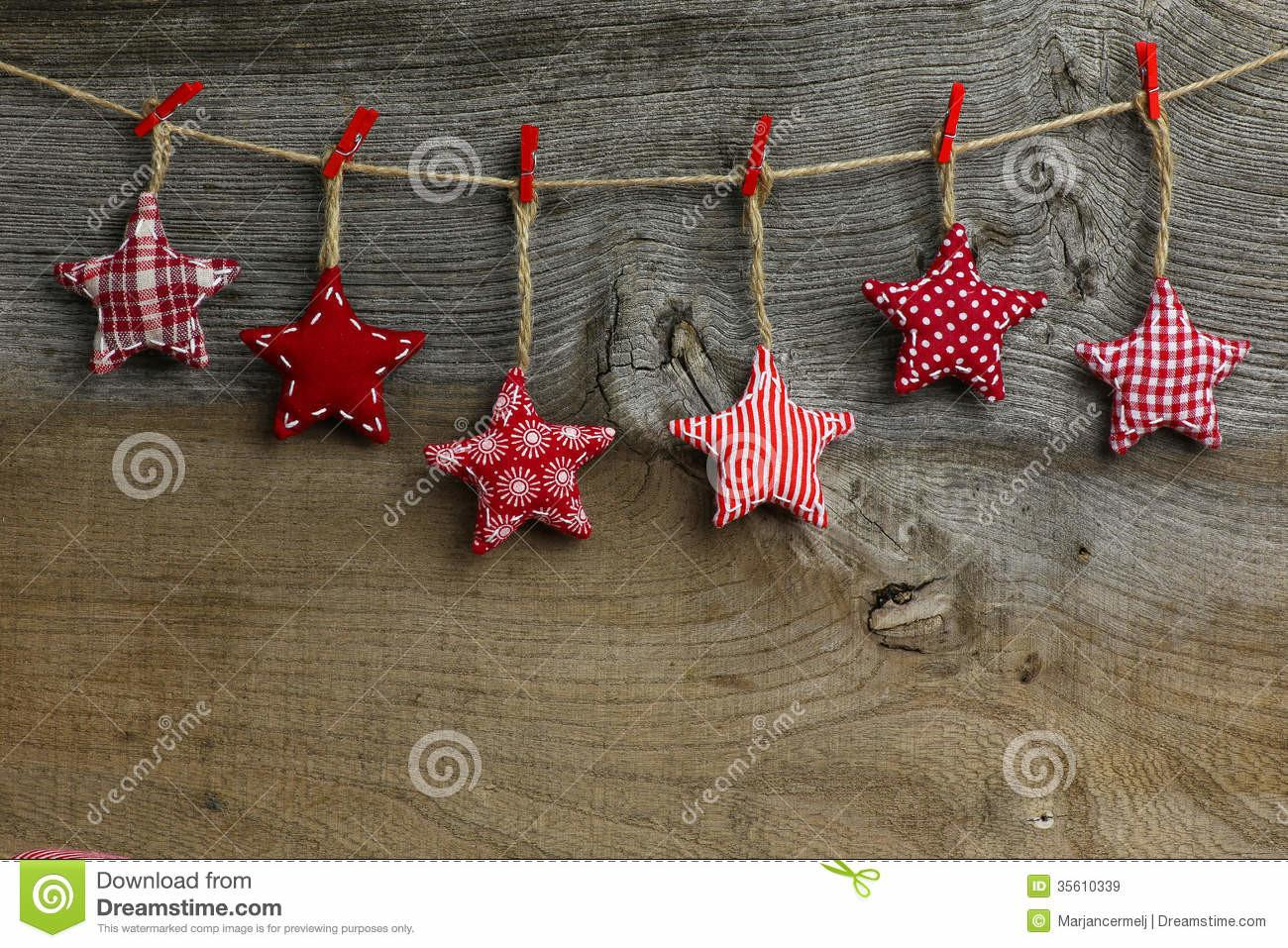 Merry Christmas Hanging Decoration Red White Pattern