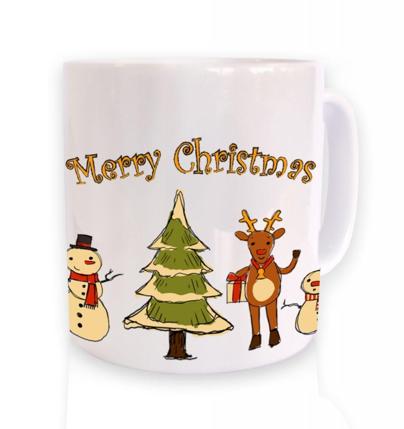 Merry Christmas Winter Friends Mug Somethinggeeky