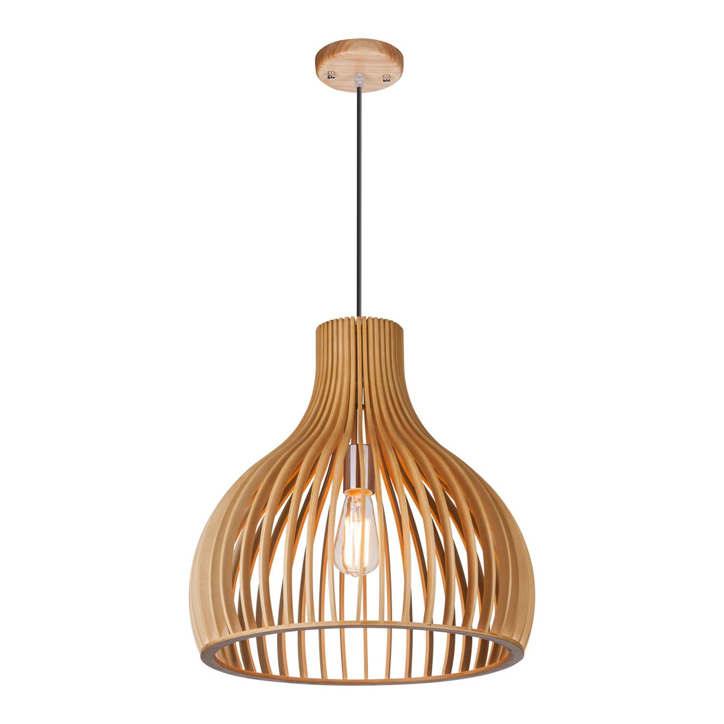 Merta Wooden Pendant Light 48cm Achica