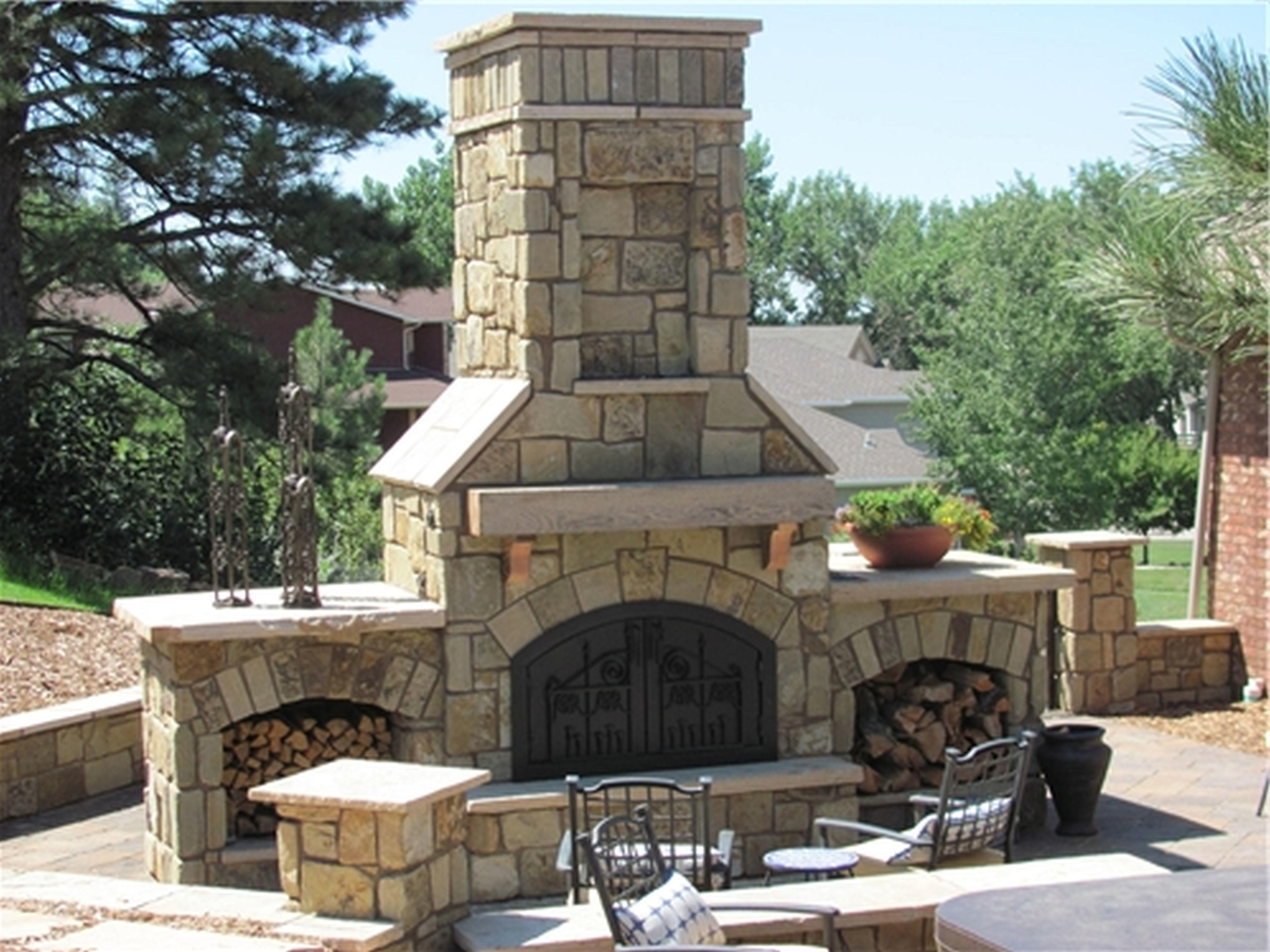Mesmerizing Outdoor Fireplace Designs Stone Your