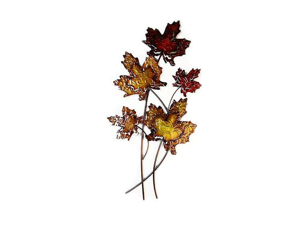 Metal Autumn Leaves Wall Art Leafy
