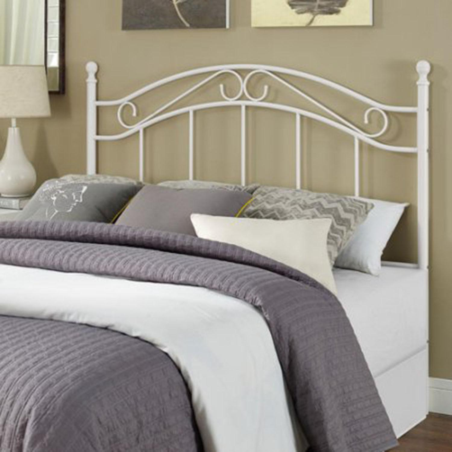 Metal Bed Headboard Frame Platform Kids Bedroom