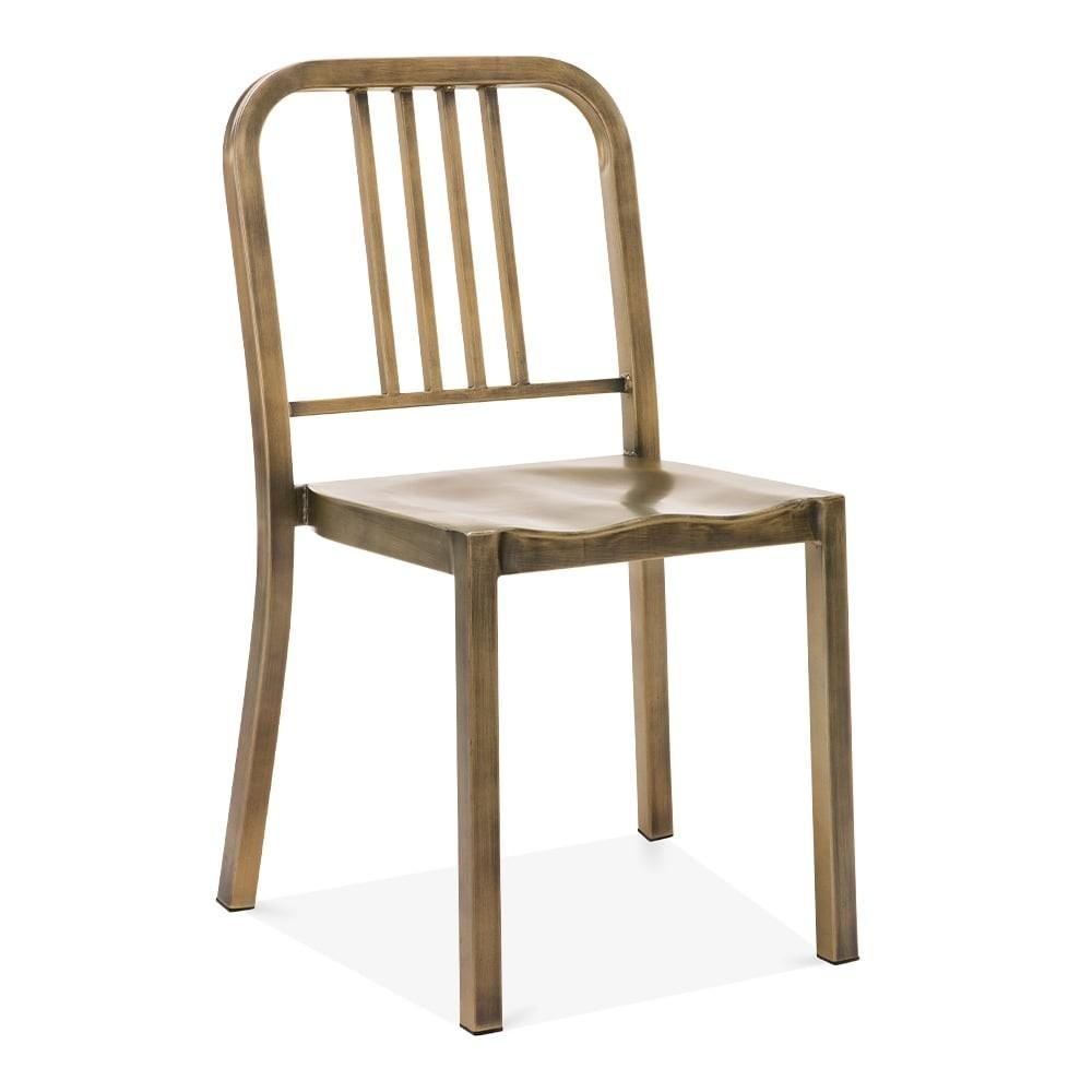 Metal Dining Chair 1006 Antique Brass Restaurant Chairs