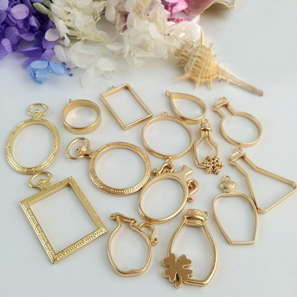 Metal Frame Mould Mold Jewelry Making Gold Various