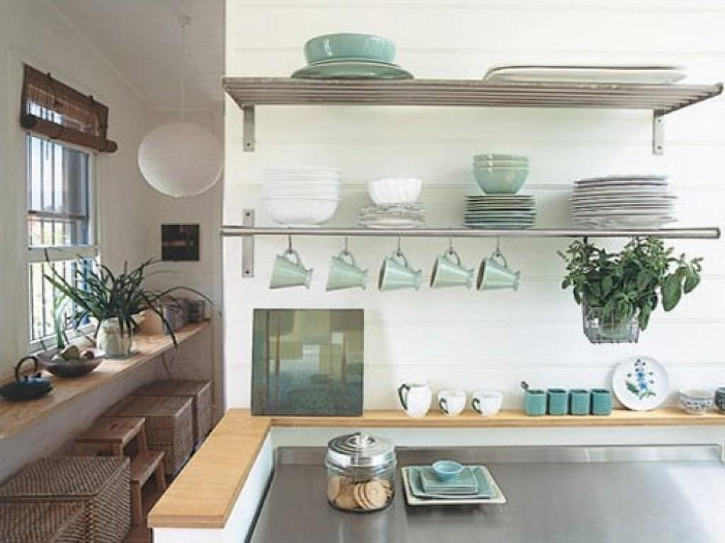 Metal Kitchen Wall Shelves Stainless Steel