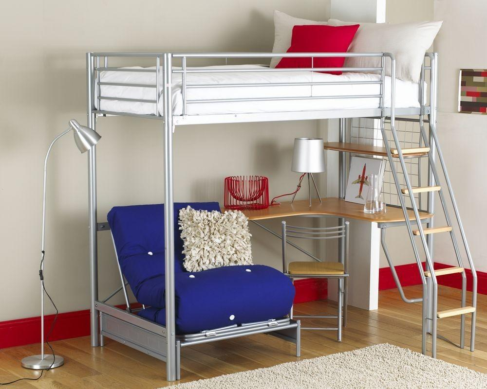 Metal Loft Bed Decor Creative