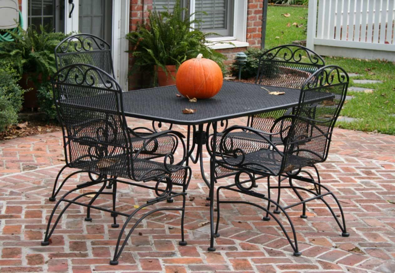 Metal Mesh Patio Furniture Black Color Theme Home