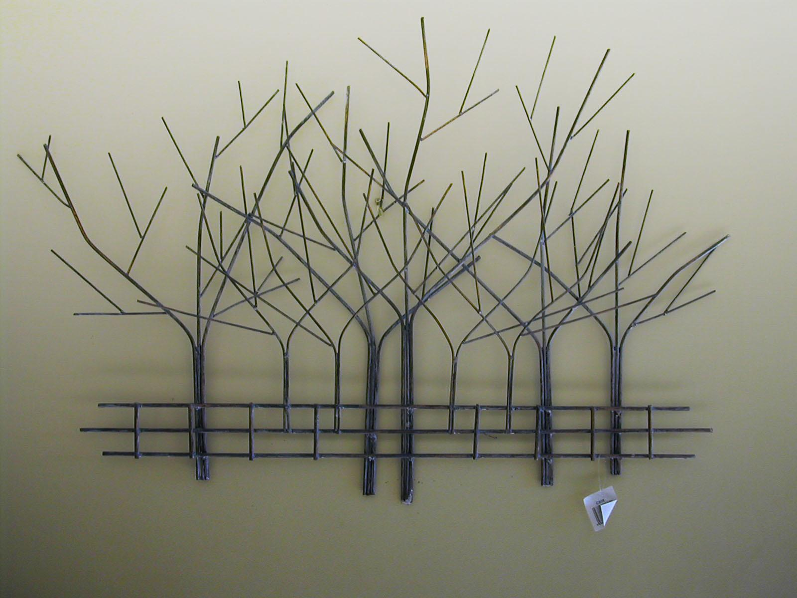 Metal Wall Art Trees Fence Decal