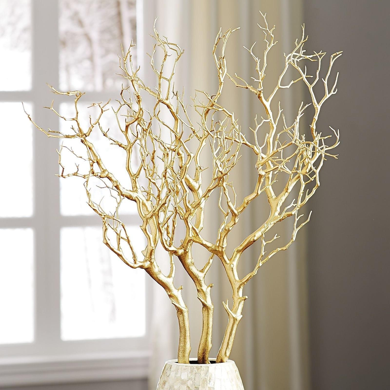 Metallic Gold Branch Pier Imports