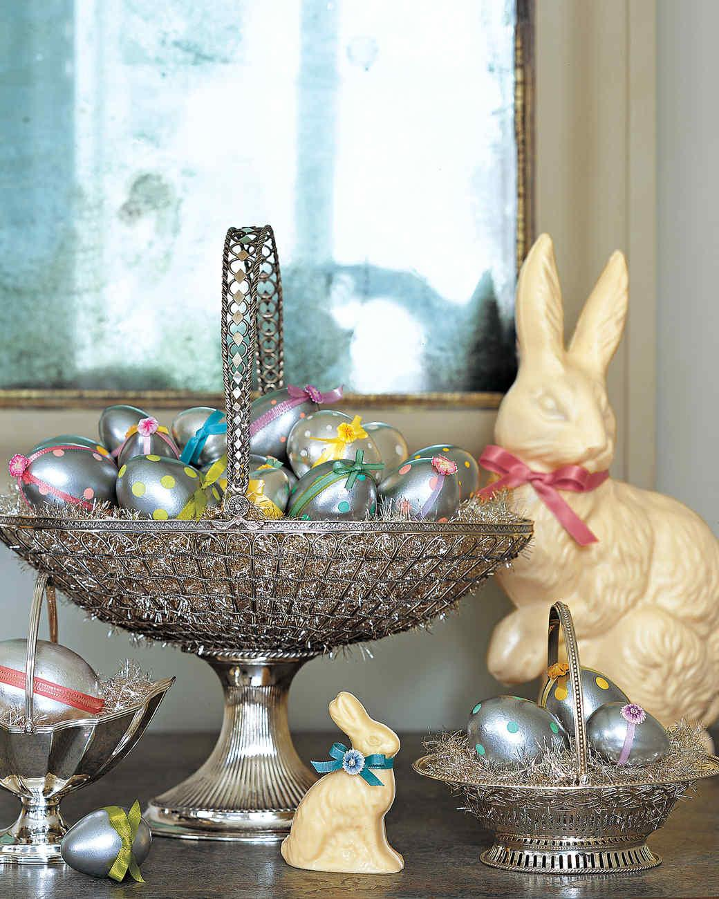 Metallic Polka Dotted Eggs Martha Stewart