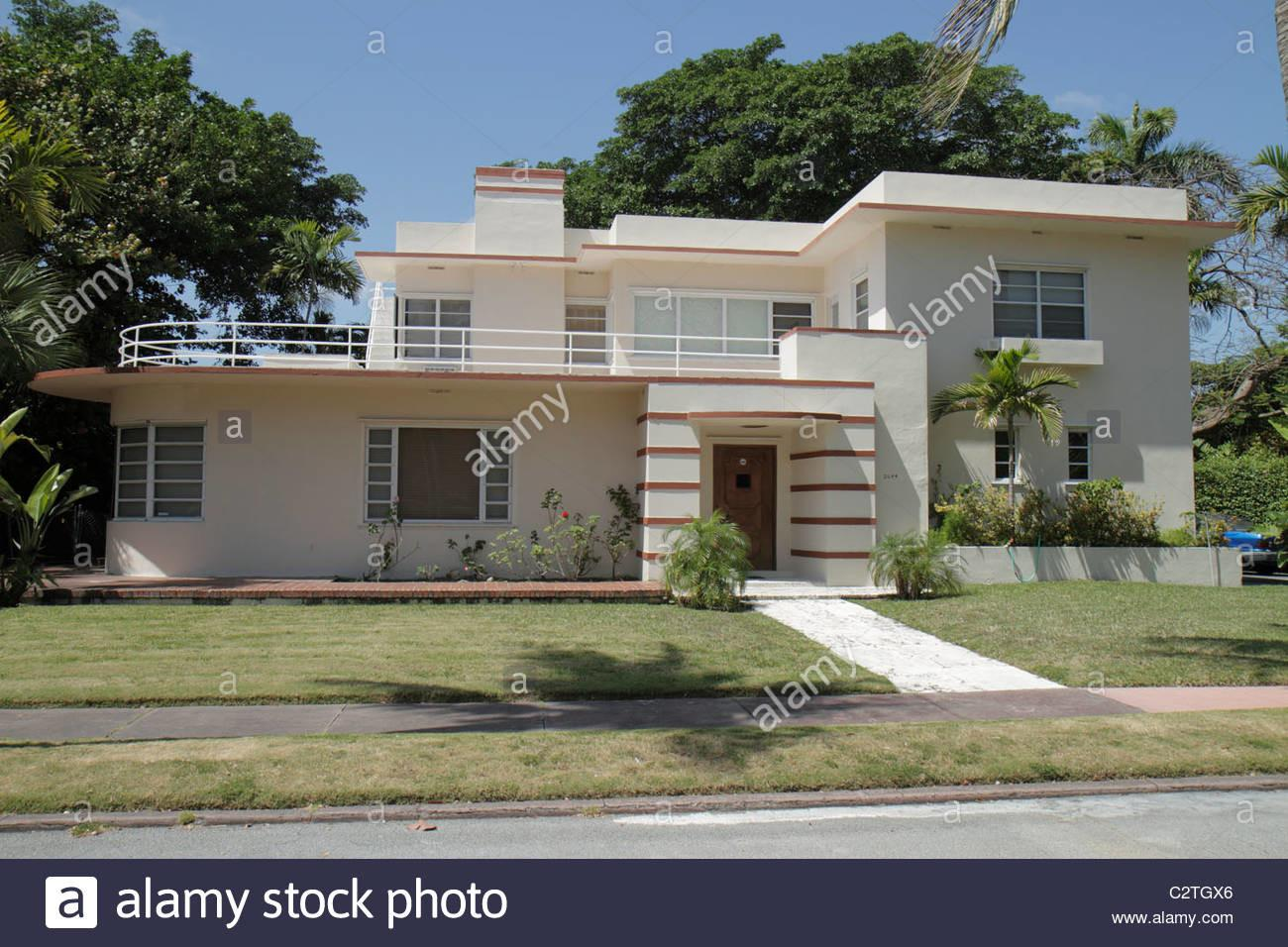 Miami Beach Florida Flamingo Drive Home House Residence