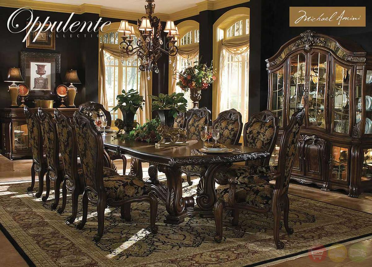 Michael Amini Oppulente Luxury Formal Dining Room Set Aico