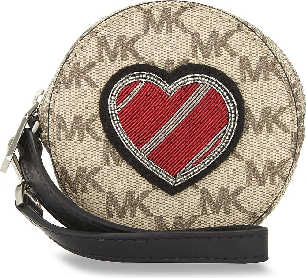 Michael Kors Heart Leather Coin Purse Lyst