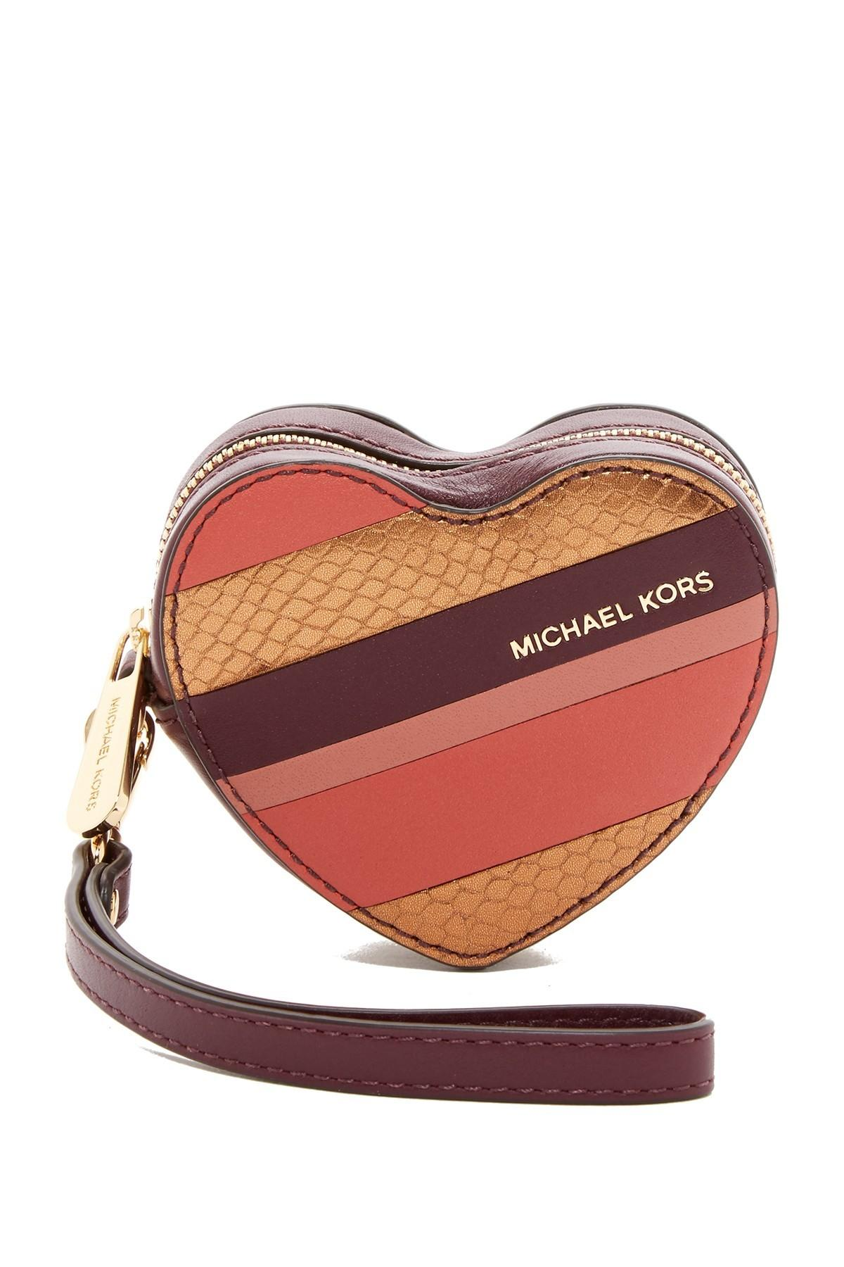 Michael Kors Leather Heart Coin Purse