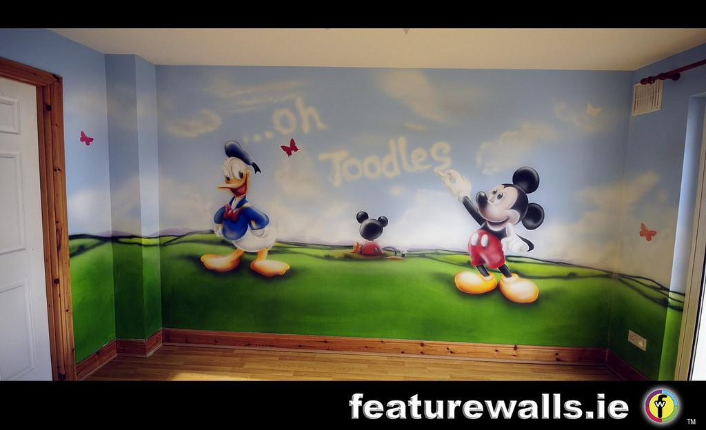 Mickey Mouse Club House Kids Room Painted Murals Disney