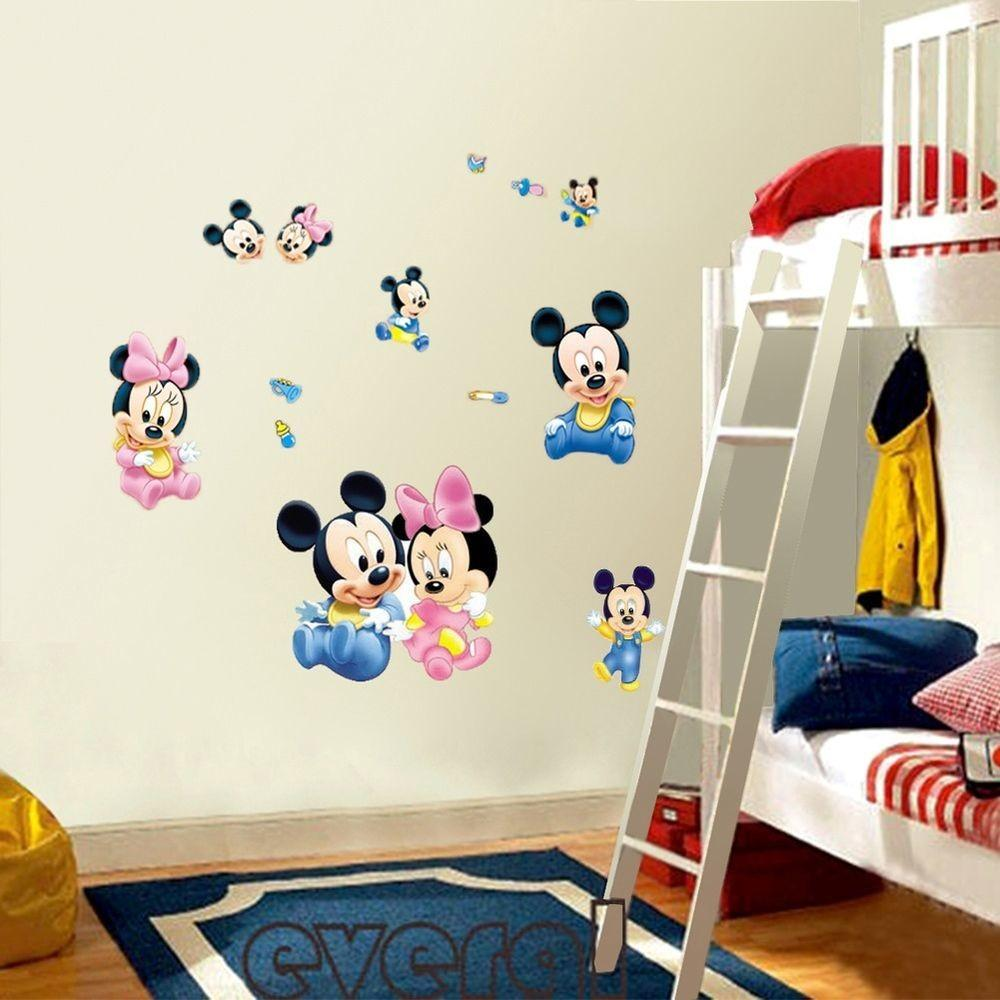 Mickey Mouse Minnie Vinyl Art Wall Stickers Decals Kids