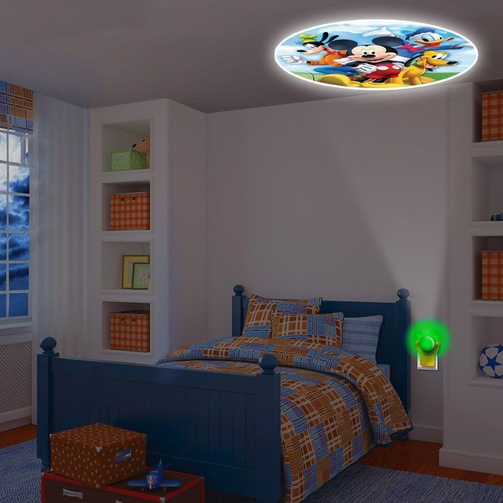 Mickey Mouse Projecting Led Plug Night Light Colorfull