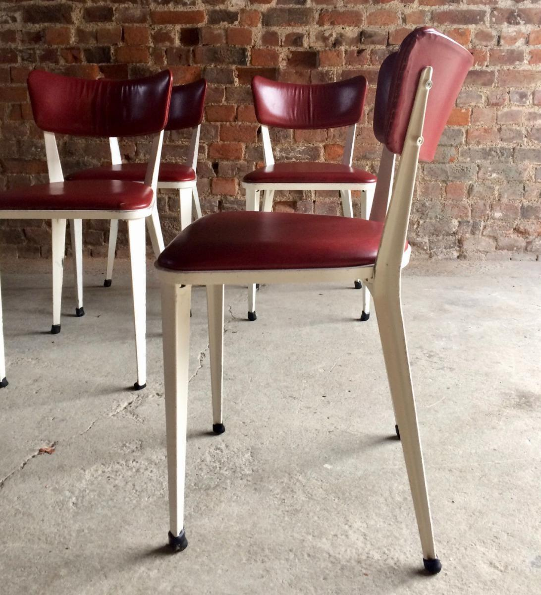 Mid Century Ba3 Dining Chairs Ernest Race 1950s Set