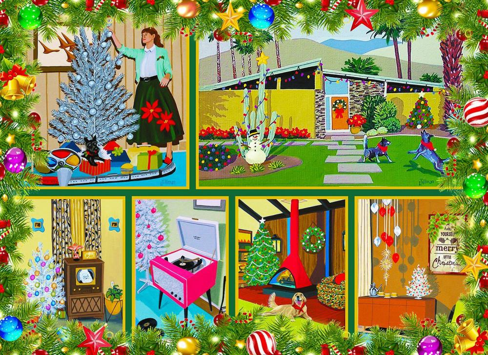 Mid Century Christmas 1000 Piece Jigsaw Puzzle Give