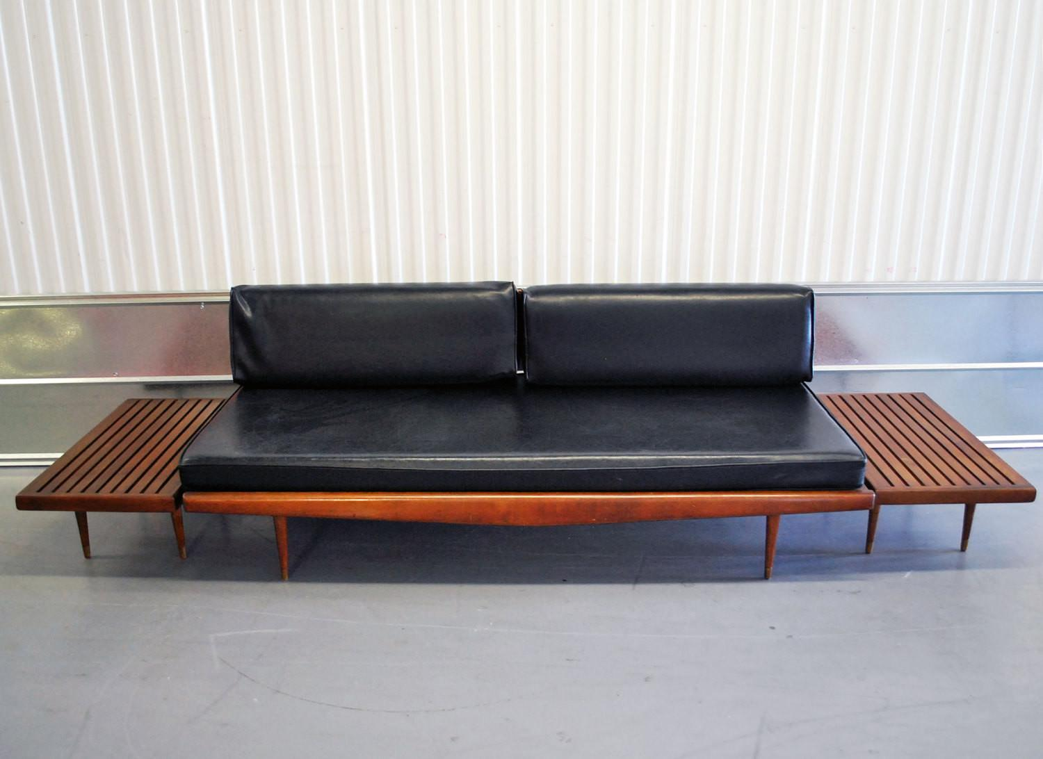 Mid Century Danish Modern Eames Era Daybed Sofa Two